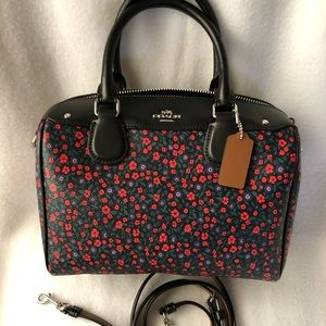 Floral Coach crossbody Bennett satchel